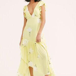 BNWT Free People She's a Waterfall Maxi Dress